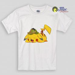 Detective Pokemon Sleeping Kids T Shirts and Youth