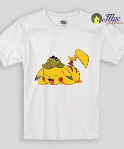 Detective Pokemon Sleeping Kids T Shirts and Youth