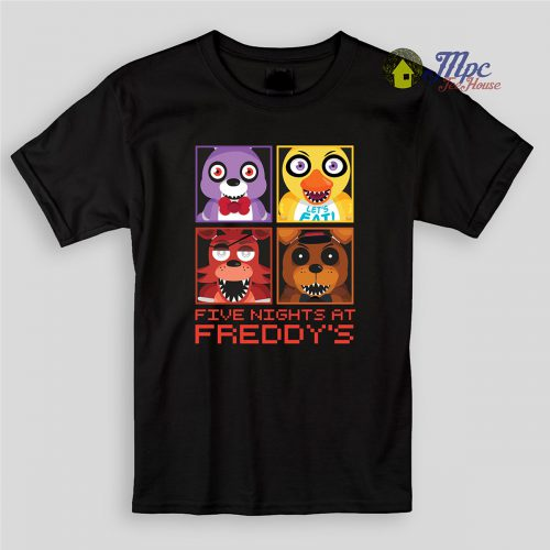 FNAF All Characters Kids T Shirts and Youth