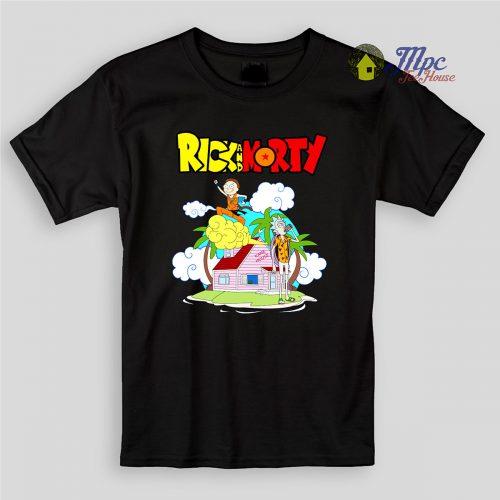 Funny Dragon Ball Rick Morty Kids T Shirts