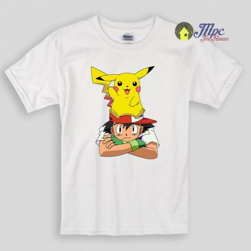 Funny Pikachu Ash Kids T Shirts And Youth