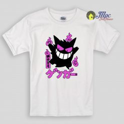 Gengar Kawai Pokemon Kids T Shirts and youth