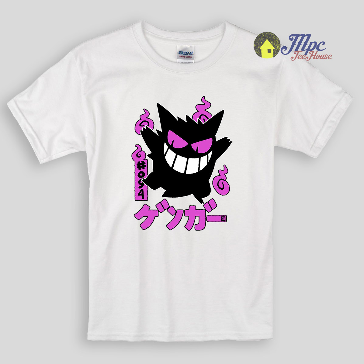 Gengar Kawai Pokemon Kids T Shirts and youth