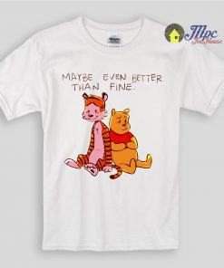 Hobbes And Pooh Best Friend Kids T Shirts