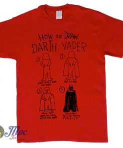 How To Draw Darth Vader Star Wars T Shirt