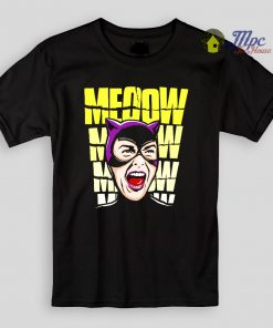 Funny Cat Women Meow Girl Kids T Shirts and Youth