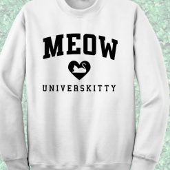 Meow Universkitty White Sweatshirt