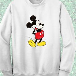 Mickey Mouse Classic White Sweatshirt