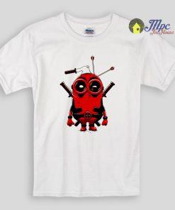 Minion Deadpool Kids T Shirts