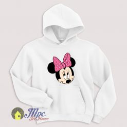 Minnie Mouse Face Hoodie