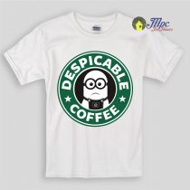 Despicable Minnion Coffee Kids T Shirts