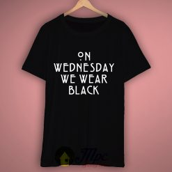 On Wednesday We Wear Black T Shirt