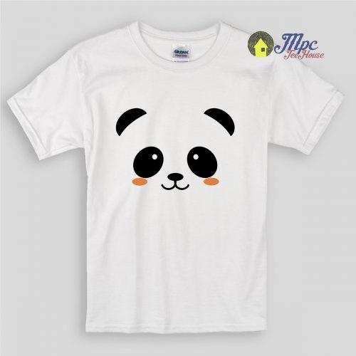 Panda Face Kids T Shirts and Youth