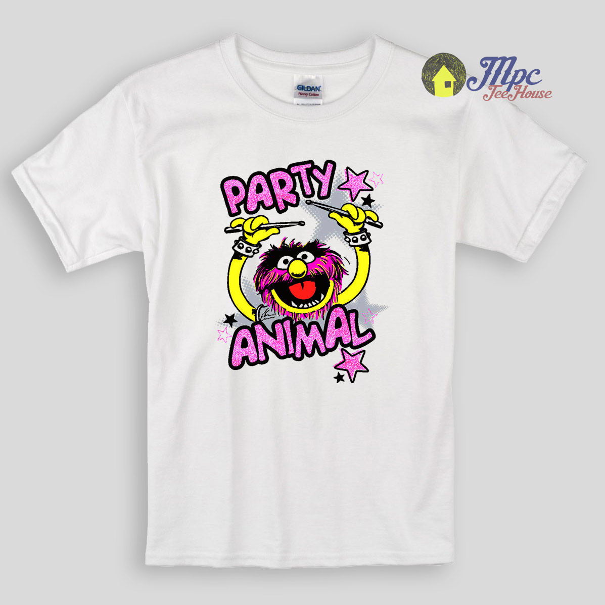 Party animal cookies kids t shirts mpcteehouse 80s tees for Animal tee shirts online