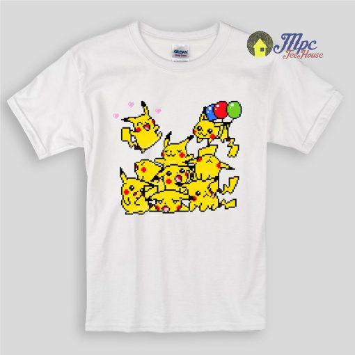 Pixelmon Pokemon Party Kids T Shirts