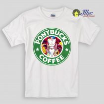Ponybucks Little Pony Coffee Kids T Shirts