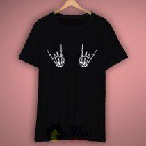 Skeleton Hand Rock T Shirt