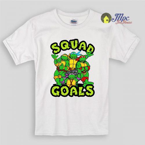 Squad Goals Ninja Turtles Kids T Shirts