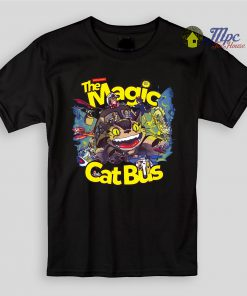 Totoro Magic Cat Bus Kids T Shirts