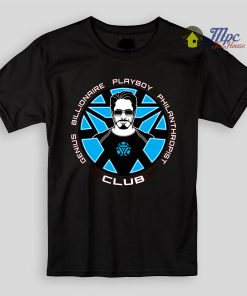 Tony Stark Iron Man Club Kids T Shirts