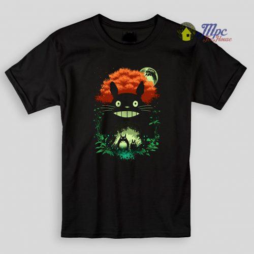 Totoro Dark Night Kids T Shirts