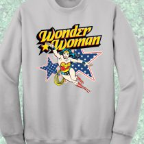 Wonder Woman Action Crewneck Sweatshirt