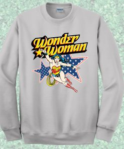 Wonder Woman Action Crewneck Sweatshirt