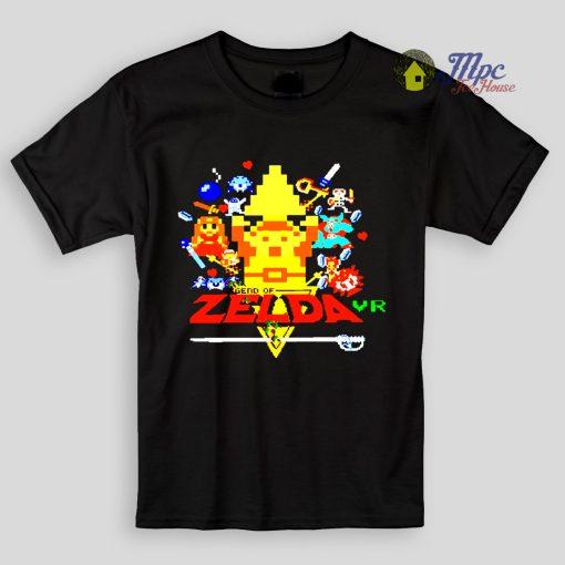 Zelda 8bit Design Kids T Shirts
