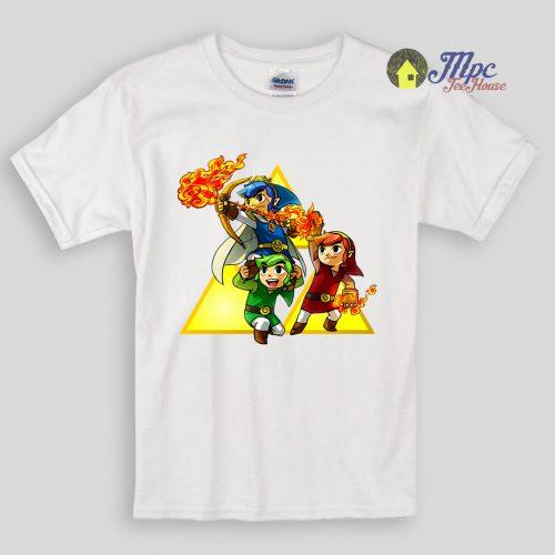Zelda Triforce All Character Kids T Shirts