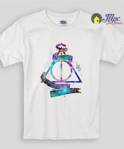 Harry Potter Deathly Hallows Galaxy Kids T Shirts
