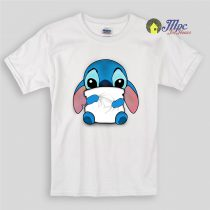 Lilo & Stitch Huging Pillow Kids T Shirts
