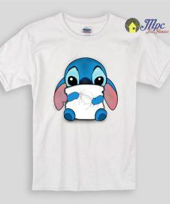 Lilo & Stitch Huging Pillow Kids T Shirts