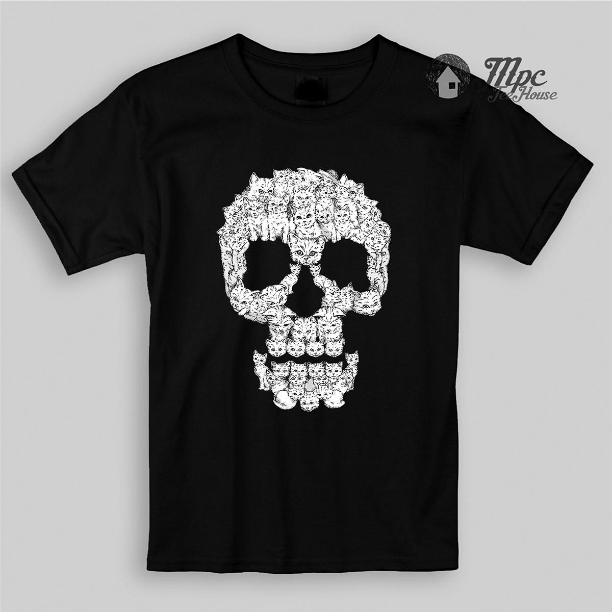 Skulls Cat Kid & Youth T Shirt