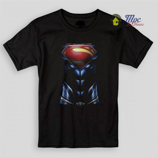 Superman Body Kids T Shirts