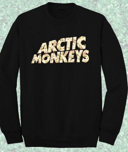 Artic Monkeys Floral Crewneck Sweatshirt