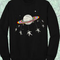 Astronaut Space Crewneck Sweatshirt