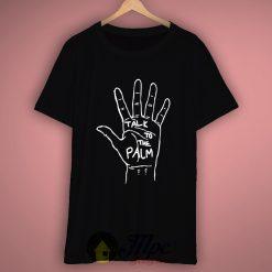 Black Petals Talk To The Palm Hand T-Shirt