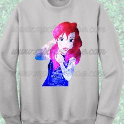Disney Punk Ariel Little Mermaid Sweatshirt