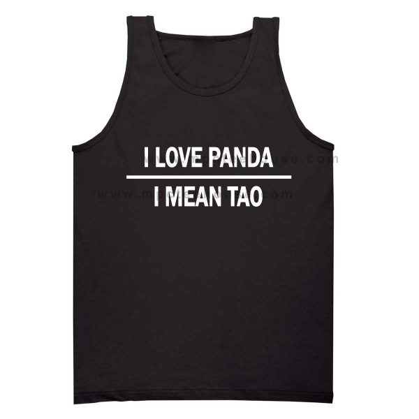 Exo I Love Panda Tank Top