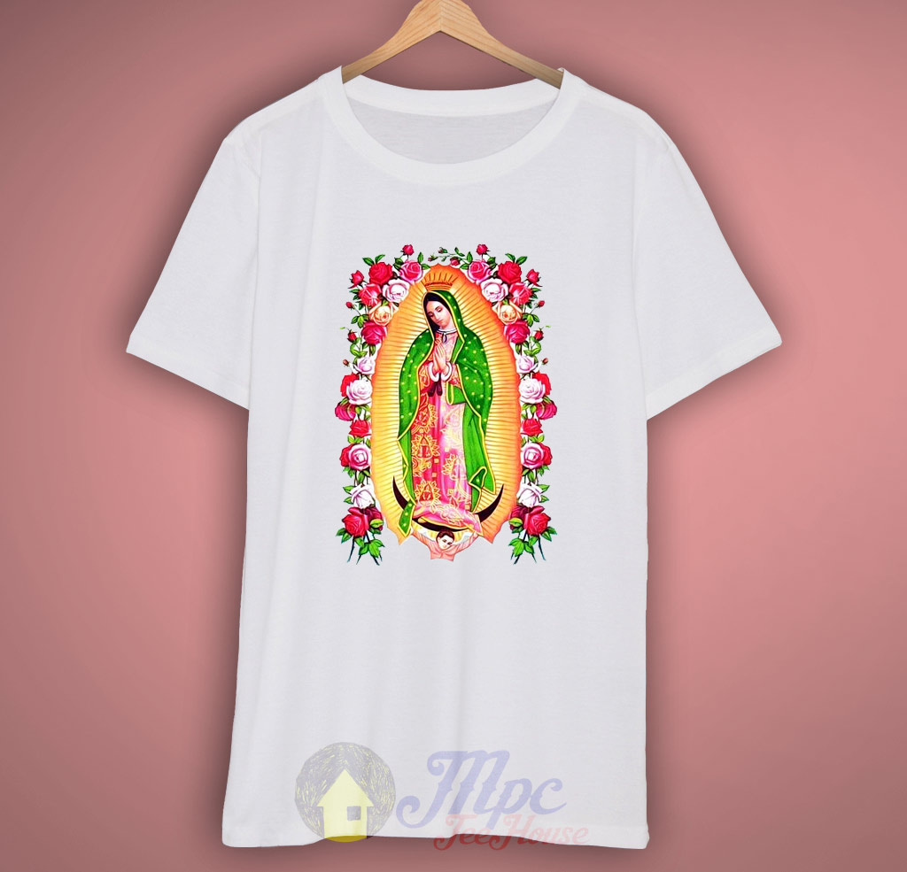 Guadalupe Jesus Floral T Shirt