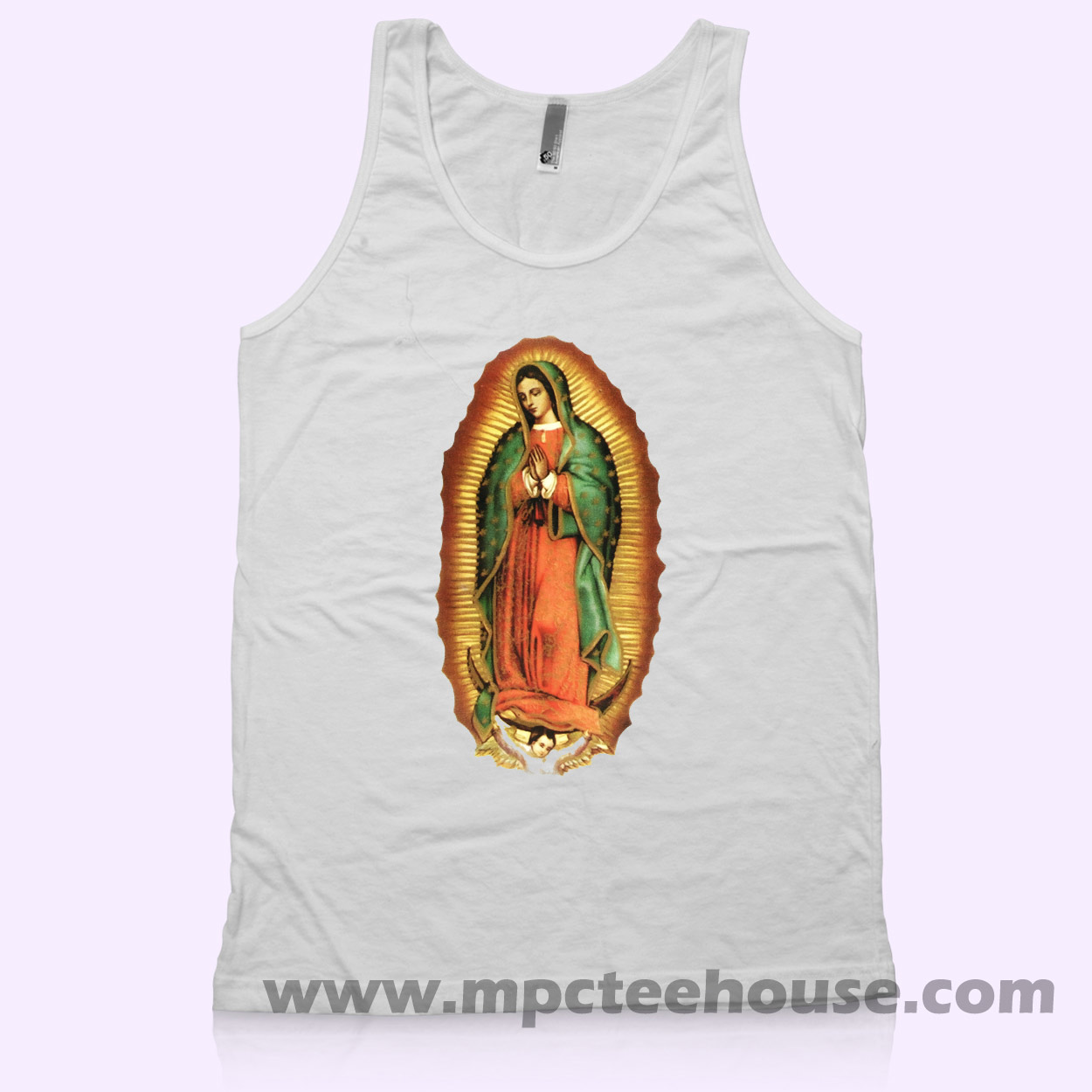 guadalupe jesus unisex tank top  u2013 mpcteehouse  80s tees