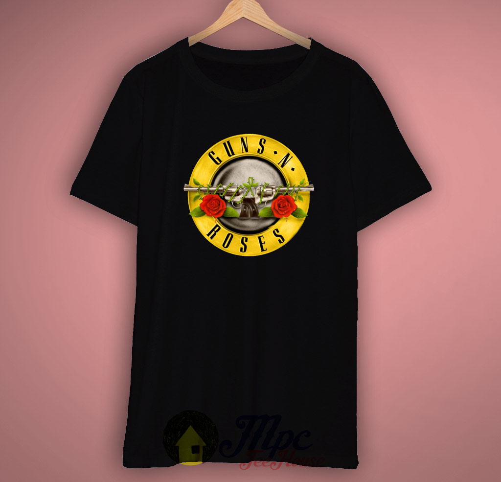 Gun and Rose T Shirt