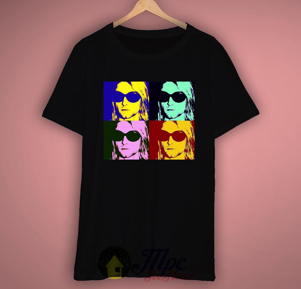 Kurt Cobain Potraits Pop Art Grunge T-Shirt