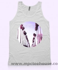 Nautical Anchor Palm Tree Tank Top