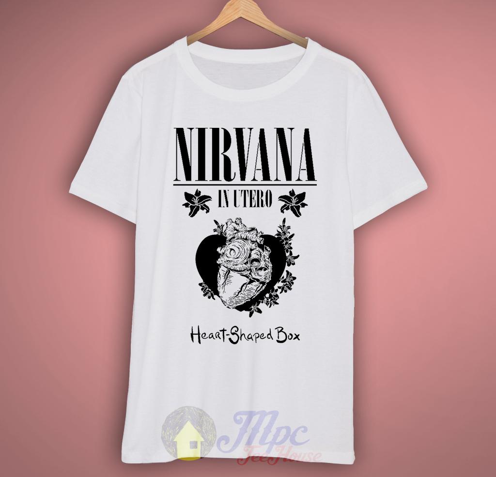Nirvana Heart In Utero Grunge T-Shirt