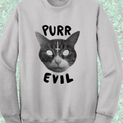 Purr Evil Satanic Cat Sweatshirt