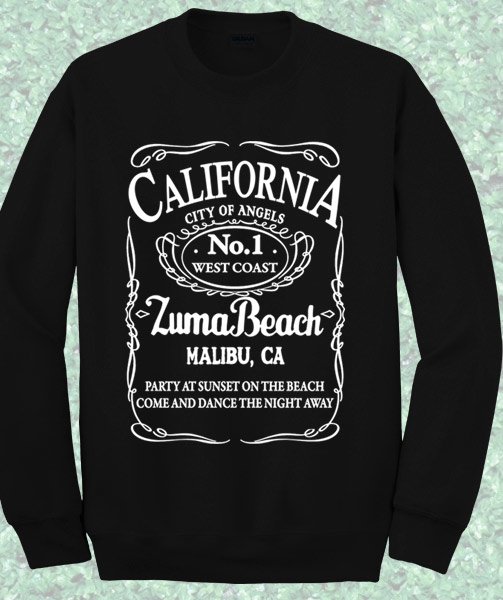 California Malibu Beach Sweatshirt