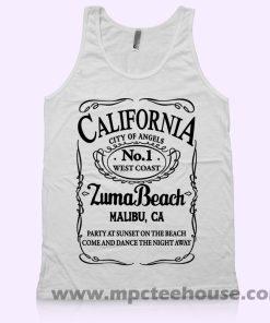 California Malibu Zuma Beach Tank Top