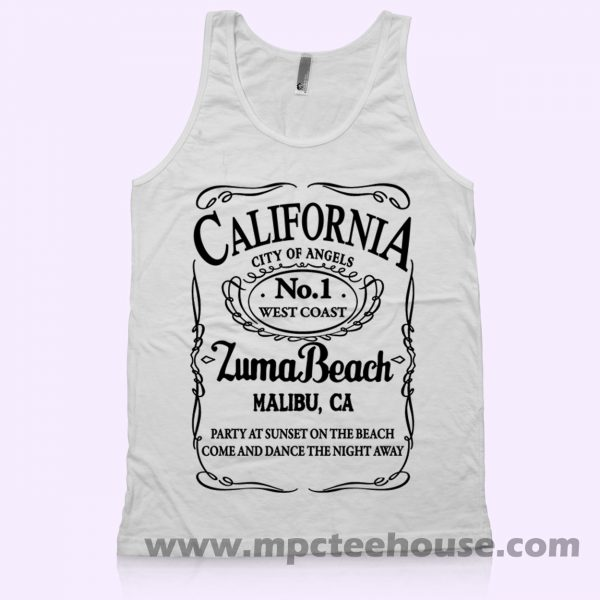California Malibu Zuma Beach Tank Top