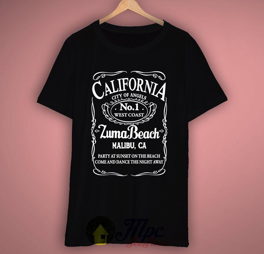 California Zuma Beach Malibu T Shirt